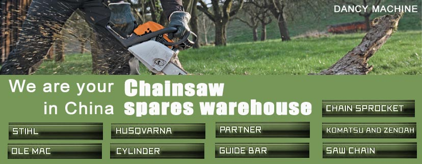 Chainsaw spares warehouse in China